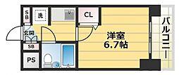 デ・リード高井田駅前[7階]の間取り