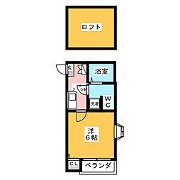 ピュア高宮参番館[2階]の間取り
