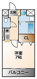 ウィンコート甲子園[1階]の間取り