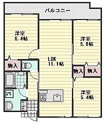 エルカーサニッシャラ[1階]の間取り