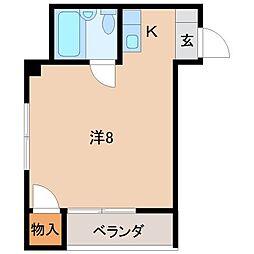コーポホワイト南出島A棟[3階]の間取り