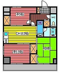 シャトレー南浦和[9階]の間取り