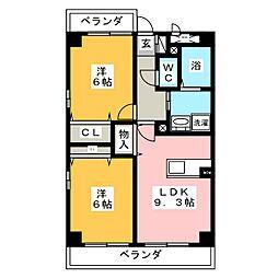 SUN NAGATA[5階]の間取り