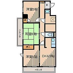 ヴィアーレ鹿沼台[3階]の間取り