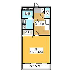 エイトハイツB[2階]の間取り