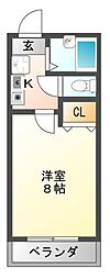 センターフィールドIII[4階]の間取り