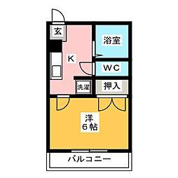 ミラマール箱崎[4階]の間取り