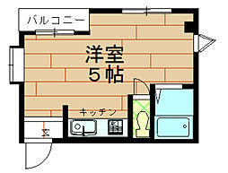 AB67[3階]の間取り