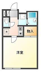 愛知県名古屋市港区遠若町3丁目の賃貸アパートの間取り