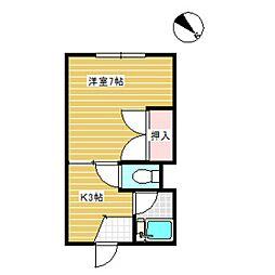 フレンドハイツ[1階]の間取り