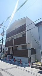 大阪府大阪市東住吉区鷹合4丁目の賃貸アパートの外観