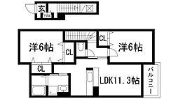 サンリット[2階]の間取り