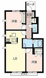 ファミール桜[1階]の間取り