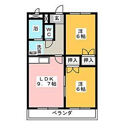 パークハウス梅森[1階]の間取り