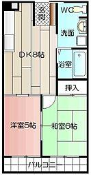 サンコーポ熊本[302号室]の間取り