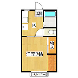 マイシティライフ16番館[1階]の間取り