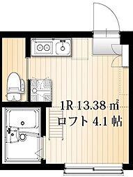 AZEST-RENT羽田11 1階ワンルームの間取り