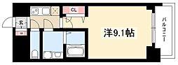 プレサンス錦通THE葵 8階1Kの間取り