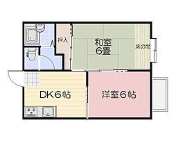 ロココ福田[2階]の間取り