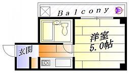 アイディーコート正雀[3階]の間取り