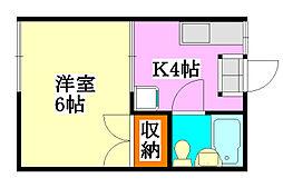 ファミーユ津田沼E棟[101号室]の間取り