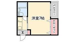 兵庫県神戸市灘区大石東町4丁目の賃貸マンションの間取り