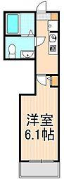 東京都足立区千住東1丁目の賃貸アパートの間取り