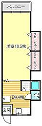 プチフィールド大間野[2−2号室]の間取り