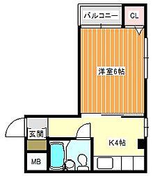 ローレルハイツ岡本[4D号室]の間取り