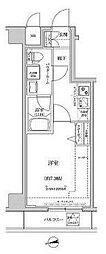 東京メトロ半蔵門線 住吉駅 徒歩15分の賃貸マンション 8階1Kの間取り