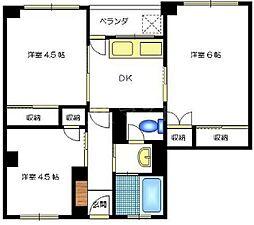 都島岡本マンション[4階]の間取り