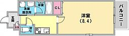 ル・プルミエ 4階1Kの間取り