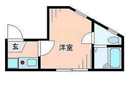 東京都葛飾区西亀有2の賃貸アパートの間取り
