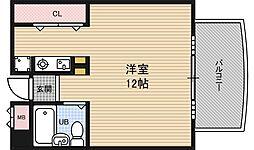 ウェーブイン中津[3階]の間取り