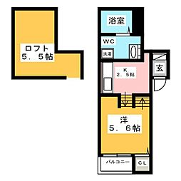 アクシス箱崎[2階]の間取り
