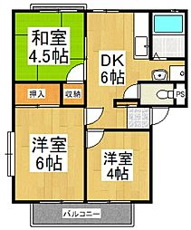 フラワーコーポ[2階]の間取り