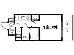 Osaka Metro谷町線 天神橋筋六丁目駅 徒歩4分の賃貸マンション 10階1Kの間取り