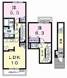マリキータ[0201号室]の間取り