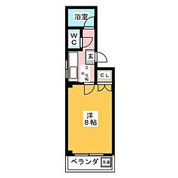 メゾンツルマイ[3階]の間取り
