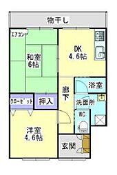 上田ハウス[1号室]の間取り