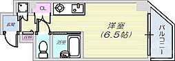 JR東海道・山陽本線 摩耶駅 徒歩10分の賃貸マンション 7階ワンルームの間取り