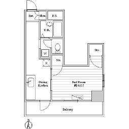 第2真ビル[0401号室]の間取り