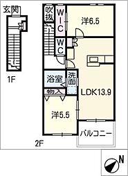 Hills−T B棟[2階]の間取り