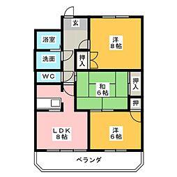 第5田中ビル[3階]の間取り