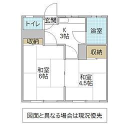 永井アパート[201号室号室]の間取り