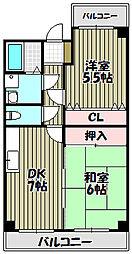 コーポSTY[3階]の間取り