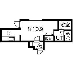 北海道札幌市中央区南二条西9丁目の賃貸マンションの間取り