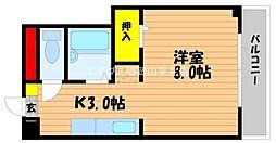 岡山県岡山市南区芳泉1丁目の賃貸マンションの間取り