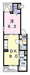 ベルク 3階1DKの間取り