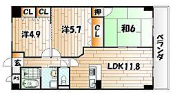 KSCビル[4階]の間取り